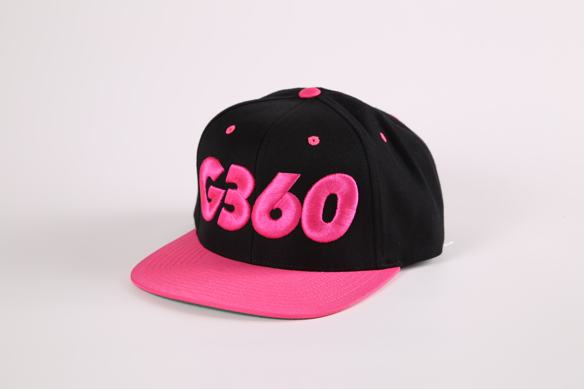 7648cc599 G-360 SNAPBACK ALL BLACK WITH PINK